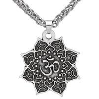 Ювелирные изделия SLAV 3D Lotus кулон ожерелье мода мужская длинная амулет