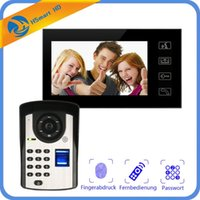 New 7inch Monitor Fingerprint password Keypad Code HD Camera...