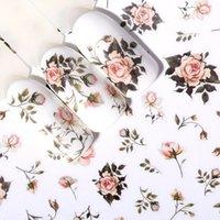 3D 네일 스티커 자기 접착 장미 꽃 패턴 네일 아트 데칼 장식