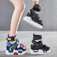 Swonco Chunky Sandalen Frauen Sommerschuhe High Top Gürtel Eimer Sandalen Platform 2019 Neue Weibliche sexy High Heels Strand Sandale Shoe1