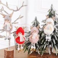 Da parede da árvore Enfeites de natal na moda Plush Angel Doll Natal pendurado pingente de presentes Criança bonito Plush Dolls Brinquedos decoração do feriado Xmas