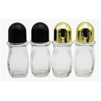 30ml 50 ml en verre clair Huile essentielle bouteille à rouleaux avec verre Roller Ball pour le parfum Aromathérapie Roll On bouteille