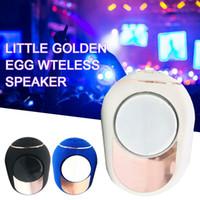 2020 kleiner goldener Eier Wireless Bluetooth-Lautsprecher tragbare Multicolor-Stereo-Surround-Musik-Player mit 2-in-1-Audiokabel