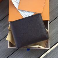 Новый Париж Плед Стиль Мужская Кошелек Мода Мужчины Кошельки Специальный холст Недостаток Небольшой Двухместный Кошелек с коробкой и мешок для пыли 6 цветов