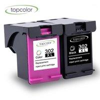 Mürekkep Kartuşları Topcolor 302 XL Siyah Kartuş Çip ile 302XL renk için uygun 2132 2130 5220 5230 5252 5255 Printer1