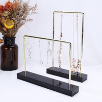 Acrylic metal jewelry stand shelf holder organizer display f...