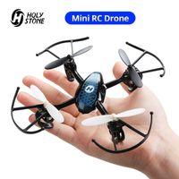 Drones Kutsal Taş HS170 Mini RC Drone Helikopter 2.4 GHz 6-Axis Gyro 4 Kanallar Quadcopter 3 Hız Modu Rüzgar Dayanıklı