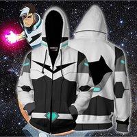 Erkek Hoodies Tişörtü 2021 Sonbahar Kış 3D Baskı Voltron Cosplay Zip Up Hoodie Ceket Giysileri 1