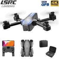 LANSENXI 2020 NEUE GPS 5G DRONE S176 HD 4K Dual Camera WiFi FPV Follow ME-Funktion, RC Quadcopter Drohne, Kinderspielzeuggeschenk LJ200911