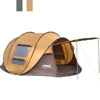 DesertFox Açık Kamp 3-4 Kişi Otomatik Pop Up Anında Çadır Yürüyüş Seyahat Turist Balıkçılık Plaj Çadır Tenteleri