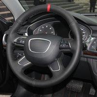 DIY Couture de la voiture Couverture de la voiture Volant Volant Funda Volante pour Audi A3 8V Sportback A4 B8 Avant A6 C7 A8 D4 Q3 8U Q5 8R Q7 4L