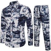 Tallas para hombres Ropa KISSQIQI 3D Impreso Casual Male moda remata la camisa Trajes de manga larga de los hombres de máxima asiática M-5XL