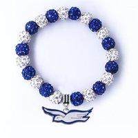 Encanto pulseras exquisitas griega letra sociedad hermandad zeta phi beta paloma colgante shambhala beads pulsera personalizable1