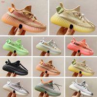 Yeezy 350 V2 Sıcak Çocuk doğum günü hediyesi için Ayakkabı Pharrell Williams Numune Sarı Çekirdek Siyah çocukları Spor Ayakkabı Sneakers bebek Koşu