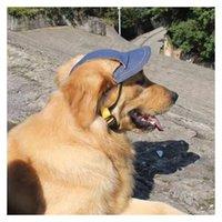 개 의류 모자 자외선 차단제 통기성 조수 애완 동물 고양이 귀여운 및 잘 생긴 데님 야구 모자 매일 나가는 여행 PO Sun Hat2021