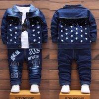 Herbst Kinder Baby Jungen Kleidung Mode Denim Jacke Top Hosen 3pcs / Sets Infant Kinder Casual Clothing Winter Kleinkind Trainingsanzüge LJ200831