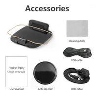 Nuevo HUD + OBD HD HD Head Up Spanip con la navegación GPS Bluetooth Windshind Speed Security Alarm1