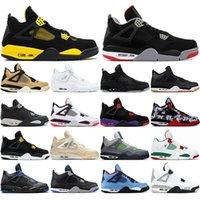 Com meias grátis 2020 alto jumpman 4 4s sapatos de basquete preto homens homens esportes sapatilhas brancas rush violeta homens metálicos dos homens US 7-13