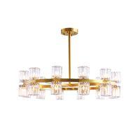 Luxo totalmente de cobre pingente Luzes Contemporânea quente e romântica lâmpada pendurada Lustre de cristal Para Casa Hotel Villa Decoração G4 Lâmpada LED