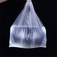 100 pz / confezione Supermercato Sacchetti di plastica con manico Utile Plastica Shopping Bag Shopping Transparent Bag Shopping Strumenti di imballaggio