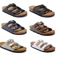 Florida 2021men kadın tasarımcı sandalet tasarımcı ayakkabı slayt yaz moda geniş düz kaygan sandalet terlik flip flop deri plaj ayakkabı