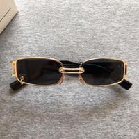 2020 Nuovo coreana di GM del progettista degli occhiali da sole delle donne di personalità metallo Occhiali da sole Classic Lady Piccola Struttura Occhiali da sole Retro GW002
