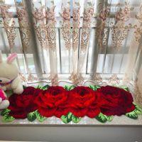 홈 장식 핑크 레드 블루 보라색 핑크 165 * 60cm, 180 * 62cm1에 대한 아트 깔개 몰려 들판 카펫 장미 카펫