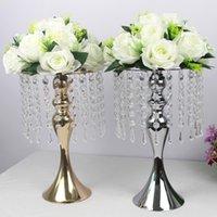 Exquisito florero de flores Twist Forma Soporte Golden / Plata Boda / mesa Centro de mesa 52 cm Tall Road Leader Decoración