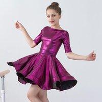 Bühnenabzug Klassisches lateinisches Tanzkleid Kinder tanzen regelmäßige Kostümleistung Wettbewerbsbekleidung Cha Rumba Girl Dancewear bi485