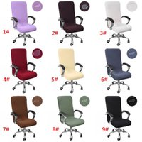 S / M / L Ufficio sedia della copertura di formato universale elastico impermeabile Rotating Chair Covers moderna Stretch Arm Chair Slipcovers