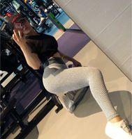 Pantalon de yoga pour dames hautes jambes LEGGINGS Femmes pantalons EXERCINE FONDS Collants de gymnastique 2020 Automne Slimyoga Plus Taille de la cheville-longueur x1227