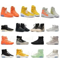 Amarillo FOG Fear of God X 1 SA 180 Raid Boots Light Bone Luxury Designers Running Shoes Sail Sail Outdoor Sports Shoes 36-46