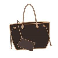 2021 Mode Marke Luxus Einkaufstasche Designer Handtasche Blume Design Hohe Qualität Frauen Neverfull Große Kapazität Gitter 32 cm 40cm