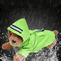 Cão Raincoat impermeável Capa Pequeno Pet Rain Rain Rain Rainwear Deck Duplo com Botão Snap Botão Venda Quente 14 5SL G2