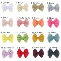 New DIY lace girls hair clips 4inch hair bows baby BB clips ...