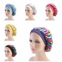 Mujeres Musulmanas Anche Stretch Transpirable Bandana Night Durming Turban Hat Headwrap Bonnet Chemo Cap Accesorios para el cabello Lla325