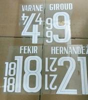 2020/21 Франция Название Гризманн и номер Футбол заплатки 2021 Франция Pogba, Mbappe дома и на выезде nameset бесплатную доставку