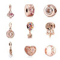 Rose Gold Liga solta contas para fazer garganta e pulseira coração fang hot ballon padrão diy acessórios de jóias peças grânulos