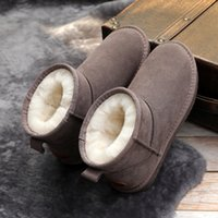 رجال الشتاء والثلج أستراليا نمط حقيقية جلدية أحذية الكاحل المرأة الدافئة للماء أحذية قصيرة