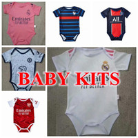 2020 2021 jerseys de futebol de bebê 6 a 18 meses camisas de futebol bola infantil kits squad bodysuit 20 21 roupas rastejando maillots futbol