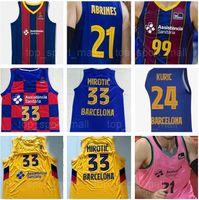 Erkekler Basketbol 9 Ricky Rubio Jersey 99 Nick Calathes 11 Juan Carlos Navarro Pau Marc Gasol 19 Leandro Barbosa Baloncesto Kırmızı Mavi Pembe