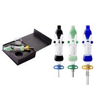 Mini kit de burbujas de vidrio de 10 mm con reciclador de clavos de uñas sin doma, plataformas de aceite mini vidrio agua bongs fumar tubos de fumar