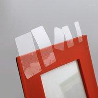 30 * 10mmx3000 stücke Klarer Rechteck Klebstoff Aufkleber Aufkleber Transparente PVC-Etikett Dichtungs-Paste für Geschenkbox Dichtungs-Paste1