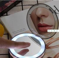Kosmetikspiegel Make-up-Objektiv Compact Hand USB-LED Lade Faltspiegel berührungsempfindlichen Schalter Kleines Licht Intelligenz Tragbare 32xy M2