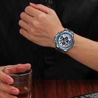 Fonds de mouvement Marque Mans Watch pour Mens Steel Apportez Noctilucent Mouvement de quartz Type Non Mécanique Imperméable2 Surface Montre de Surface Homme
