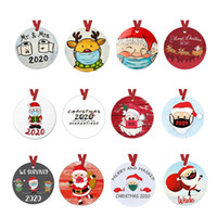 30 Styles PET Christmas Ornaments 3 Inch Round Christmas Tre...