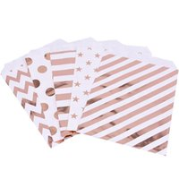 25pcs Wedding Favor Bag Rose Gold Kraft Paper Candy Bags Str...