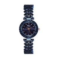 Luxo Moda Diamantes Relógios Aço Inoxidável Mulher Elegante Mulher Quartzo Pulseira Luxo Luxo Senhora Relógio de Relógio