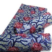 New Nigerian Green African African Wax Fabrics Cotton Rapper Batik Ankara Materiale dorato di migliore qualità per cucire