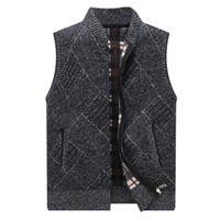 New Men's Sweater Vest Moda Hip-Hop Harajuku Sem Mangas Sweater Sweater Men's Casual Stand Collar Roupa de rua